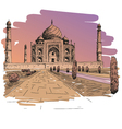 Taj Mahal drawing vector image