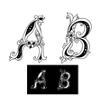 Title letters A and B vector image