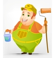 Cheerful Chubby Men vector image vector image