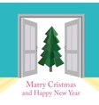 Abstract christmas background with doors vector image