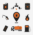 collection of fuel station icons vector image