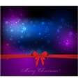 Christmas background with gift red bow vector image vector image