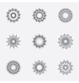 Circle geometric ornaments Spirographs set vector image