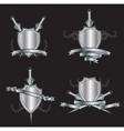 heraldry shields vector image