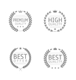 Quality label set vector image