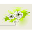 abstract ikebana vector image