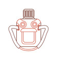camping water bottle icon vector image