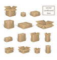 carton delivery packaging open and closed box vector image