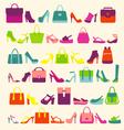 fashion background fashion Women bags vector image