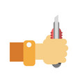 han with builder knife vector image