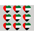 Heart with the flag of United Arab Emirates vector image