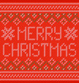 knitted christmas background christmas greeting vector image