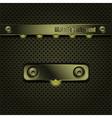 metallic backlit background vector image