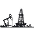oil drilling derrick vector image