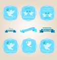peace day badges vector image