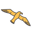 gull seagull flat line  concept vector image