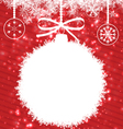 White Christmas Ball vector image vector image