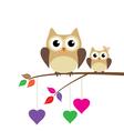 owl mom vector image