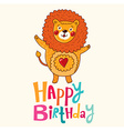 Happy birthday childrens design vector image vector image