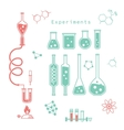 chemical experiments vector image