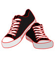 color of black sneakers vector image