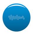 equalizer wave sound icon blue vector image