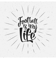Football typography retro sign Soccer overlay vector image