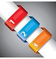 infographics ribbons diagonal vector image