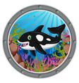 killer whale cartoon vector image