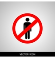 No people allowed No man sign isolated on white vector image