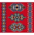 ornamental ethnic decorative floral adornment vector image