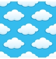 Seamless pattern with fluffy clouds vector image