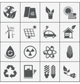 Set of eco energy icons vector image