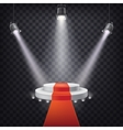 Set of scenic spotlights vector image