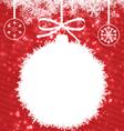 White Christmas Ball vector image