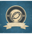 Retro American Football Emblem vector image