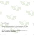 Ginkgo biloba pattern vector image