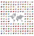 World flags all vector image vector image