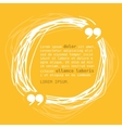 Circle frame with quote on yellow background vector image vector image