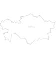Black White Kasakhstan Outline Map vector image vector image