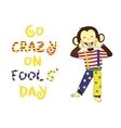 April 1 fools day cartoon funny banner vector image