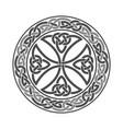 celtic cross ethnic ornament geometric vector image