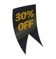 Tag thirty percent discount icon cartoon style vector image