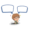 a boy and call out vector image vector image