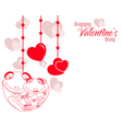 Valentine Frog Couple Hearts Background vector image