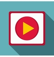 Play icon flat style vector image