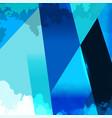 Grunge shape blue background vector image