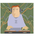DJ music set vector image