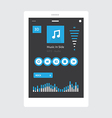 Tablet Music Player vector image vector image