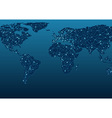World Map Communications vector image vector image